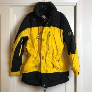 Incredible vintage Fila yellow & black snow jacket